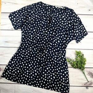RACHEL Rachel Roy | Navy & Cream Polka Dot Dress